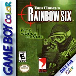 Box cover for Tom Clancy's Rainbow Six on the Nintendo Game Boy Color.