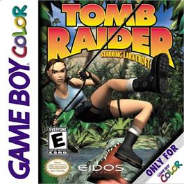 Box cover for Tomb Raider on the Nintendo Game Boy Color.