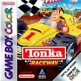 Box cover for Tonka Raceway on the Nintendo Game Boy Color.