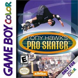 Box cover for Tony Hawk's Pro Skater on the Nintendo Game Boy Color.