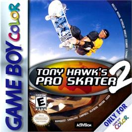 Box cover for Tony Hawk's Pro Skater 2 on the Nintendo Game Boy Color.
