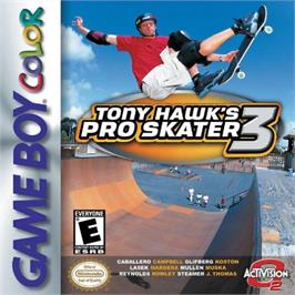 Box cover for Tony Hawk's Pro Skater 3 on the Nintendo Game Boy Color.