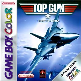 Box cover for Top Gun: Firestorm on the Nintendo Game Boy Color.