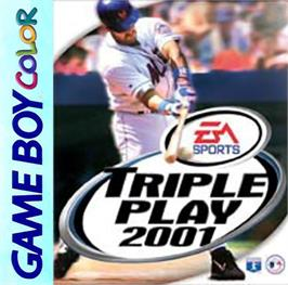 Box cover for Triple Play 2001 on the Nintendo Game Boy Color.