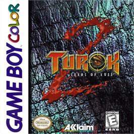 Box cover for Turok 2: Seeds of Evil on the Nintendo Game Boy Color.