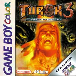 Box cover for Turok 3: Shadow of Oblivion on the Nintendo Game Boy Color.