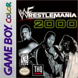 Box cover for WWF Wrestlemania 2000 on the Nintendo Game Boy Color.