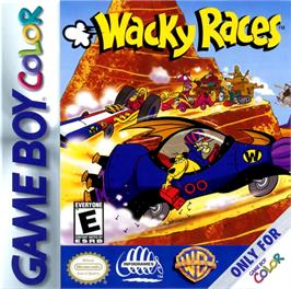 Box cover for Wacky Races on the Nintendo Game Boy Color.