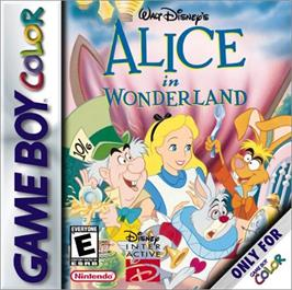 Box cover for Walt Disney's Alice in Wonderland on the Nintendo Game Boy Color.