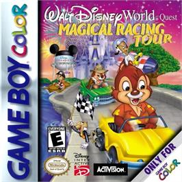 Box cover for Walt Disney World Quest: Magical Racing Tour on the Nintendo Game Boy Color.