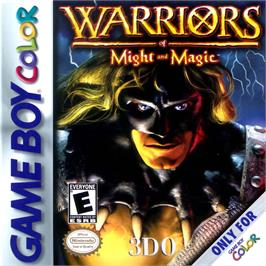 Box cover for Warriors of Might and Magic on the Nintendo Game Boy Color.