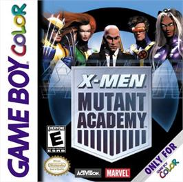 Box cover for X-Men: Mutant Academy on the Nintendo Game Boy Color.