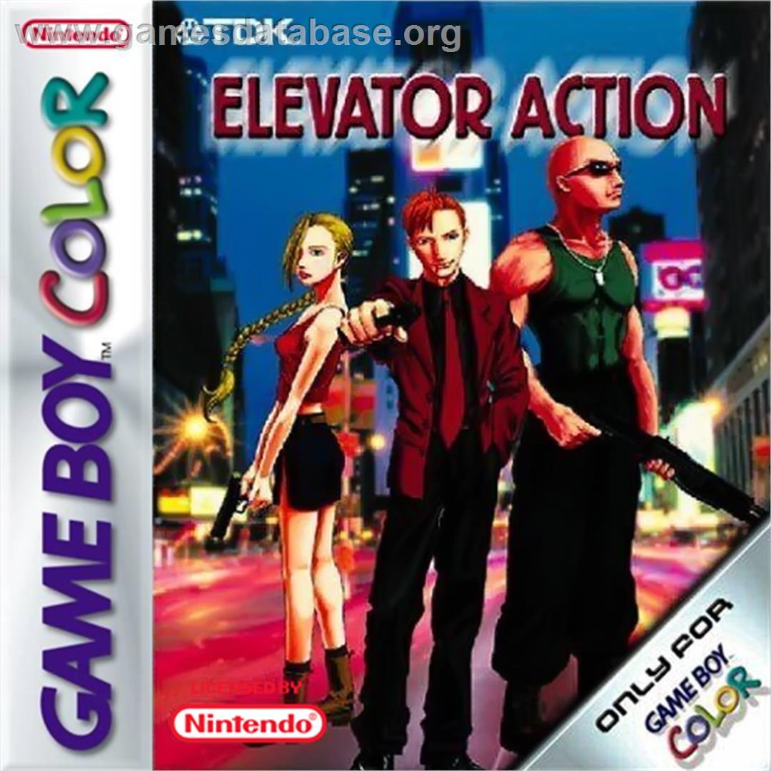 Elevator Action - Nintendo Game Boy Color - Artwork - Box