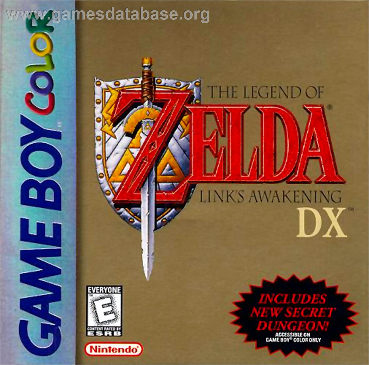 Legend of Zelda: Link's Awakening DX - Nintendo Game Boy Color - Artwork - Box