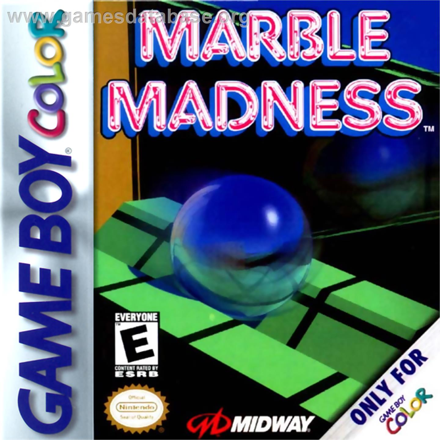 Marble Madness - Nintendo Game Boy Color - Artwork - Box