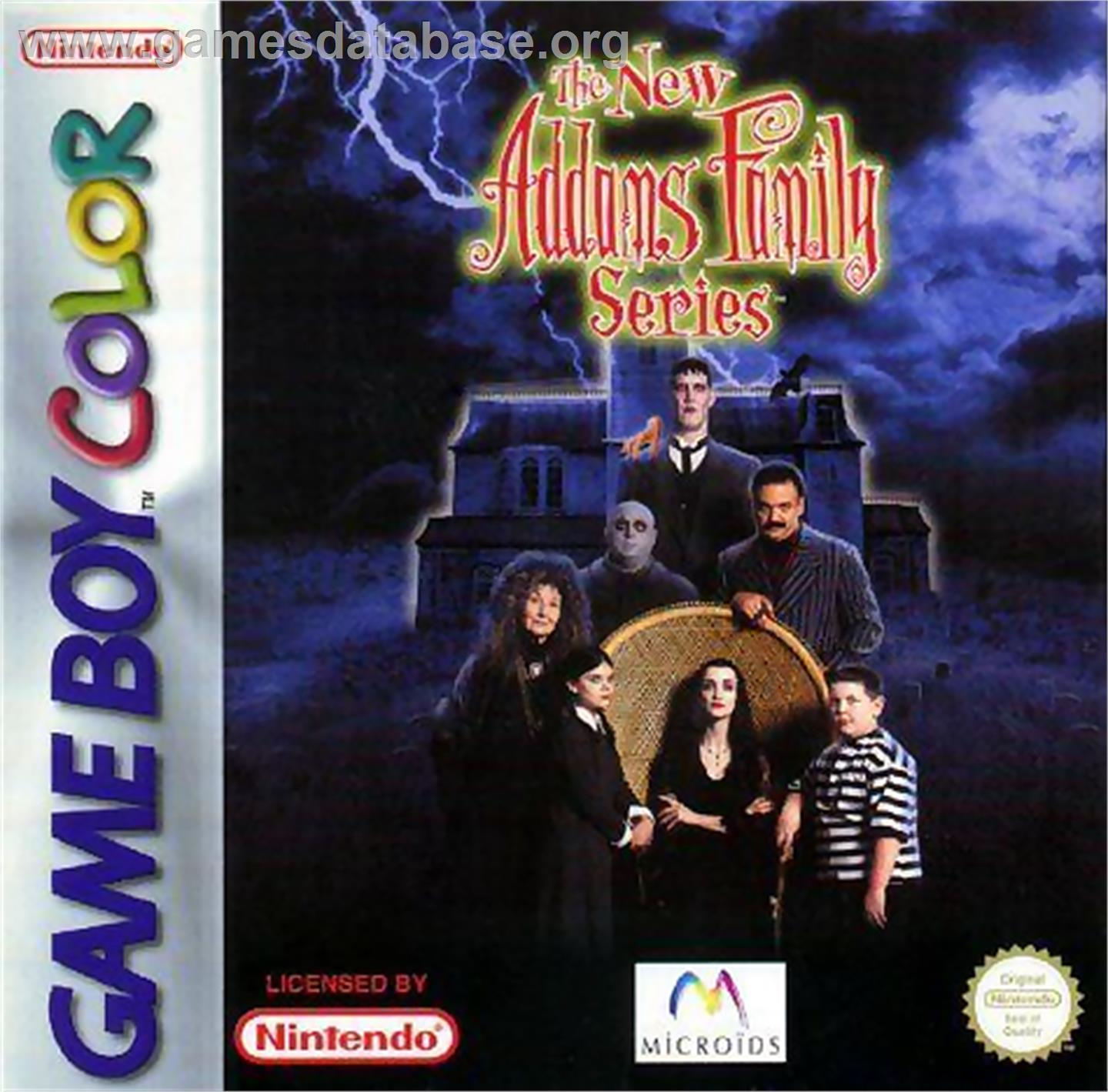New Addams Family Series - Nintendo Game Boy Color - Artwork - Box