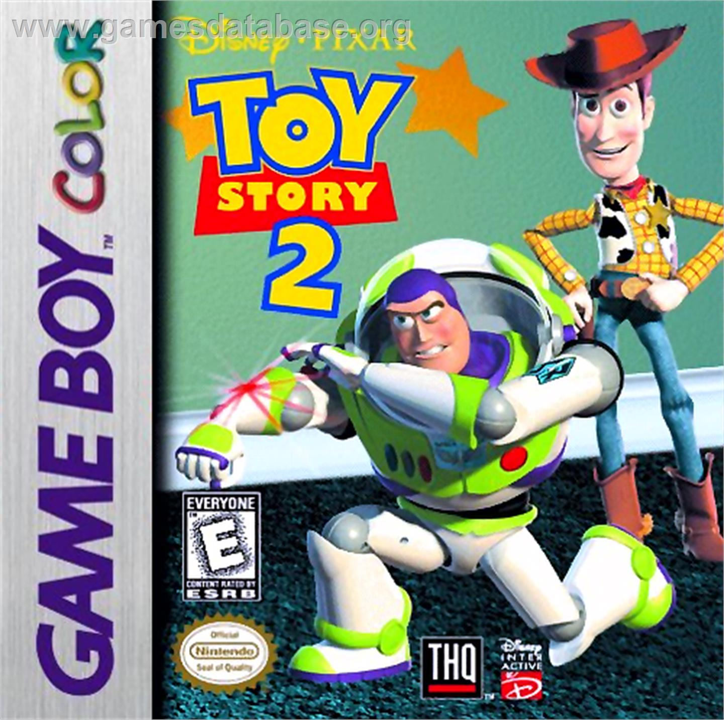 Toy Story 2: Buzz Lightyear to the Rescue - Nintendo Game Boy Color - Artwork - Box