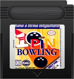 Cartridge artwork for 10-Pin Bowling on the Nintendo Game Boy Color.