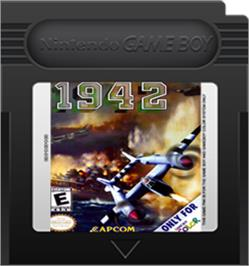 Cartridge artwork for 1942 on the Nintendo Game Boy Color.