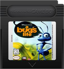 Cartridge artwork for A Bug's Life on the Nintendo Game Boy Color.