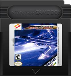 Cartridge artwork for Air Force Delta on the Nintendo Game Boy Color.