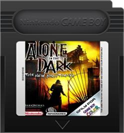 Cartridge artwork for Alone in the Dark: The New Nightmare on the Nintendo Game Boy Color.