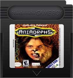 Cartridge artwork for Animorphs on the Nintendo Game Boy Color.