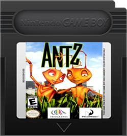 Cartridge artwork for Antz on the Nintendo Game Boy Color.