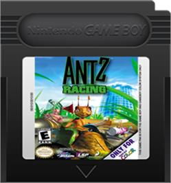 Cartridge artwork for Antz Racing on the Nintendo Game Boy Color.
