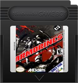 Cartridge artwork for Armorines: Project S.W.A.R.M. on the Nintendo Game Boy Color.