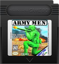 Cartridge artwork for Army Men: Sarge's Heroes 2 on the Nintendo Game Boy Color.