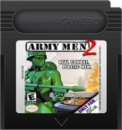Cartridge artwork for Army Men 2 on the Nintendo Game Boy Color.