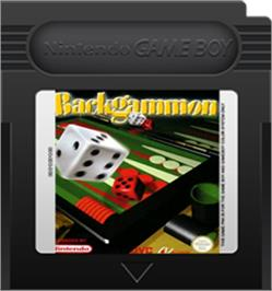Cartridge artwork for Backgammon on the Nintendo Game Boy Color.