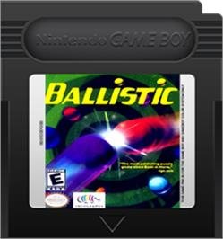 Cartridge artwork for Ballistic on the Nintendo Game Boy Color.