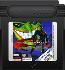 Cartridge artwork for Batman Beyond: Return of the Joker on the Nintendo Game Boy Color.