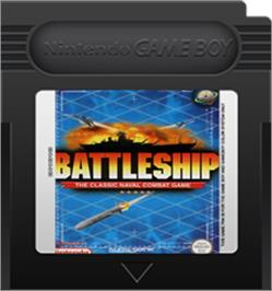 Cartridge artwork for Battleship on the Nintendo Game Boy Color.