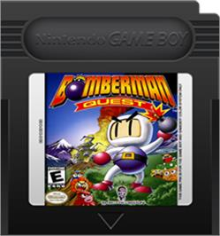 Cartridge artwork for Bomberman Quest on the Nintendo Game Boy Color.