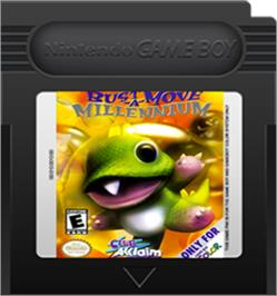 Cartridge artwork for Bust a Move Millennium on the Nintendo Game Boy Color.