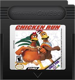 Cartridge artwork for Chicken Run on the Nintendo Game Boy Color.