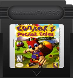 Cartridge artwork for Conker's Pocket Tales on the Nintendo Game Boy Color.