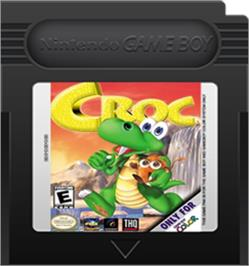 Cartridge artwork for Croc: Legend of the Gobbos on the Nintendo Game Boy Color.