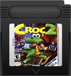 Cartridge artwork for Croc 2 on the Nintendo Game Boy Color.