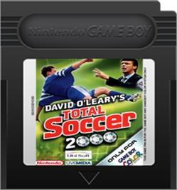 Cartridge artwork for David O'Leary's Total Soccer 2000 on the Nintendo Game Boy Color.