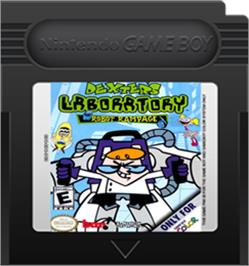 Cartridge artwork for Dexter's Laboratory: Robot Rampage on the Nintendo Game Boy Color.