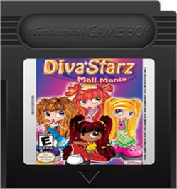 Cartridge artwork for Diva Starz: Mall Mania on the Nintendo Game Boy Color.