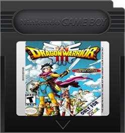 Cartridge artwork for Dragon Warrior 3 on the Nintendo Game Boy Color.