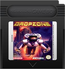 Cartridge artwork for Dropzone on the Nintendo Game Boy Color.