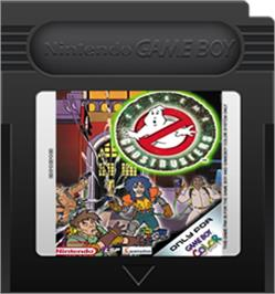 Cartridge artwork for Extreme Ghostbusters on the Nintendo Game Boy Color.