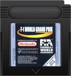 Cartridge artwork for F-1 World Grand Prix on the Nintendo Game Boy Color.