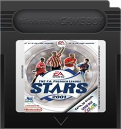Cartridge artwork for F.A. Premier League Stars 2001 on the Nintendo Game Boy Color.